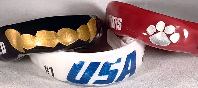 metallic logo mouthguards