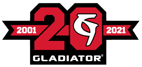 20 year Gladiator logo
